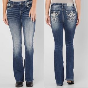 NWT Miss Me Mid-Rise Easy Boot Cut Stretch Jeans